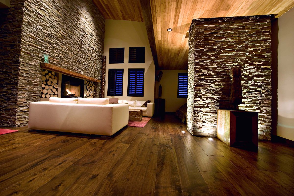 luxurious-country-living-room-design-with-parquet-floor-and-natural-rockwall-ideas